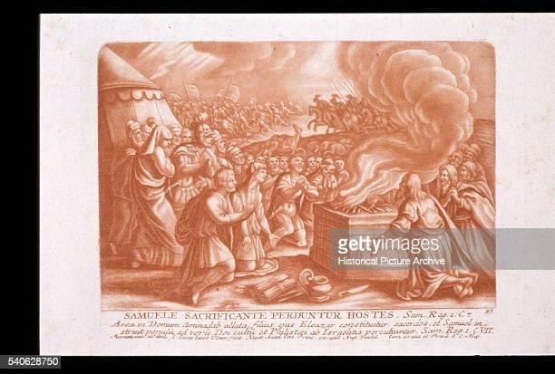 Print Depicting Samuel Sacrificing a Lamb to God