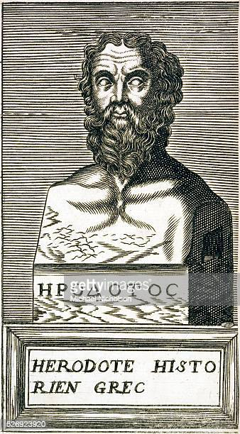 A print from 1585 of Herodotus the Greek father of history