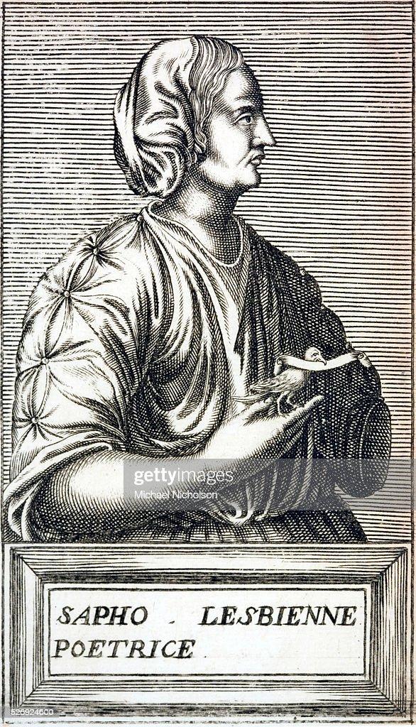 Ancient lyric poet of lesbos