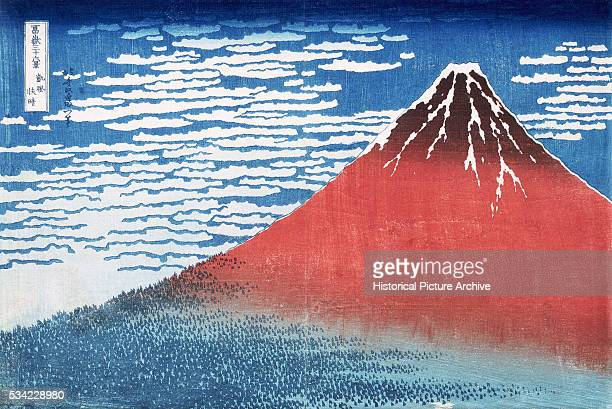 A print from the series ThirtySix Views of Mount Fuji by Hokusai