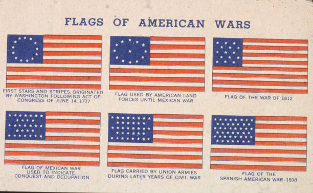 flags of american wars from 1777 1898 pictures getty images