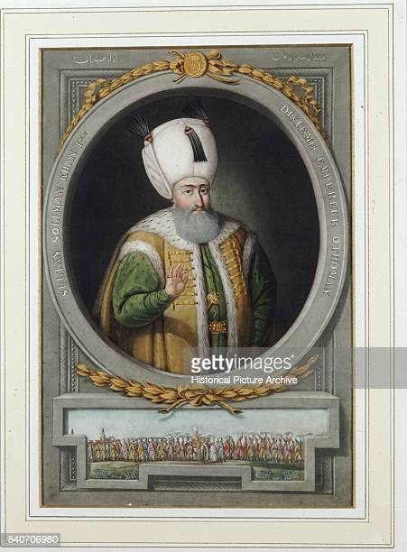 A print of a painting by John Young from his Portraits of Emperors of Turkey published in London 1815