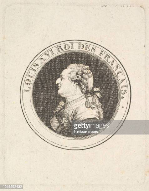 Print of a Portrait Medal of Louis XVI, possibly 1789-90. Attributed to Augustin de Saint-Aubin. Artist Augustin de Saint-Aubin.
