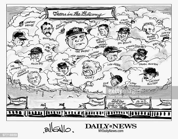 Print of a signed Bill Gallo Cartoon Tears in the Balcony