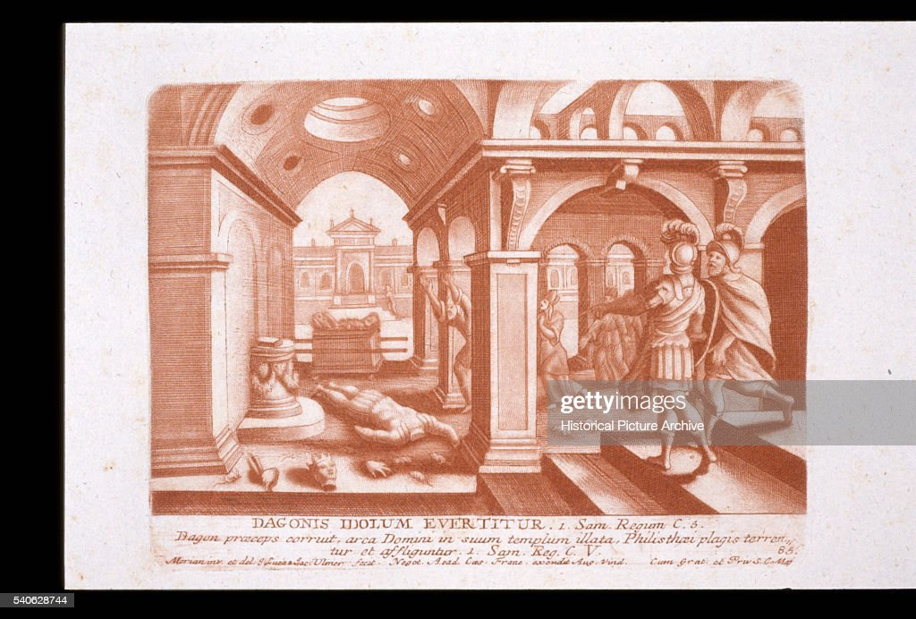 Print of Statue of Dagon Fallen in the Temple, Before the Ark of