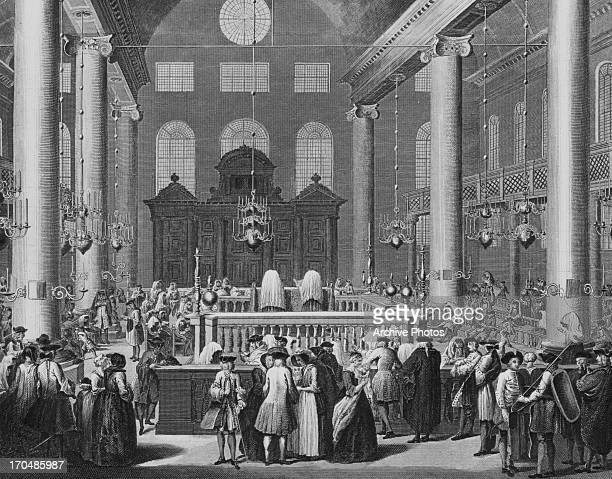 Print of the Jewish feast of Purim a Jewish holiday commemorating the deliverance of the Jews in the Persian Empire Touro Synagogue Rhode Island1712