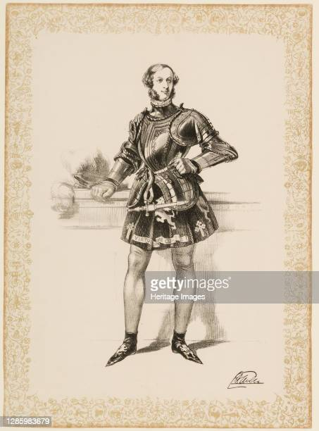 Print of William 2nd Earl of Craven in Costume Worn at Eglinton Tournament 1839, circa 1839. Artist Unknown.