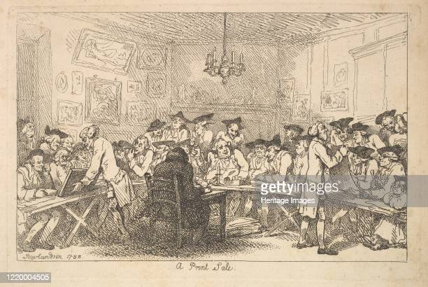 A Print Sale A Night Auction 1788 Artist Thomas Rowlandson