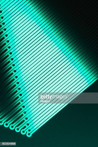 pcb, printed circuit board close-up view - miragec stock pictures, royalty-free photos & images
