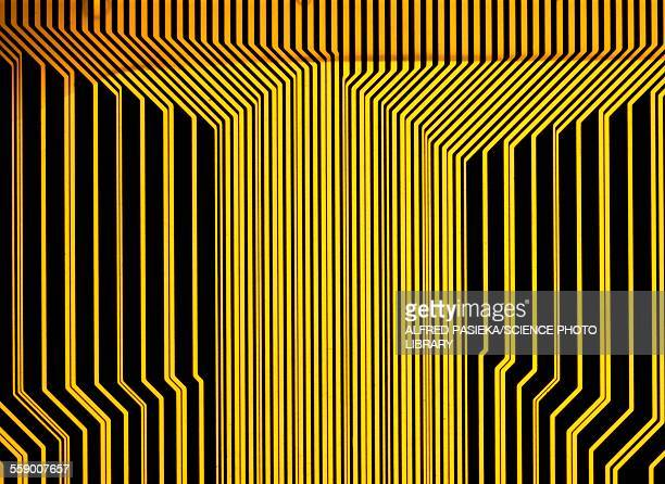 Printed circuit, macrophotograph