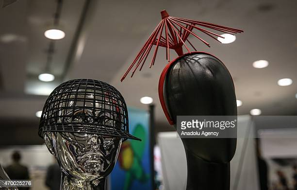 3D printed fashion goods are displayed during the 3D Prints Design Show at Javits Center in New York on April 16 2015 The 3D Print Design Show taking...