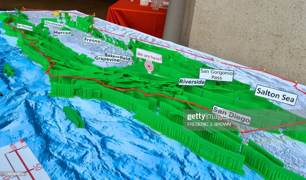 A 3D printed model of California Faults map, created by ...