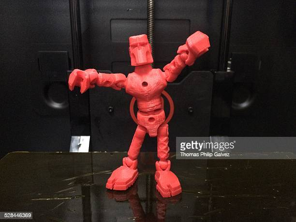 3D Printed Robot Rising from Its Platen