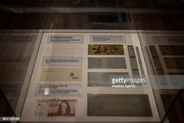 Printer for the manufacture and falsification of National and foreign currency confiscated to traffic networks is seen at the exhibition of 'History...