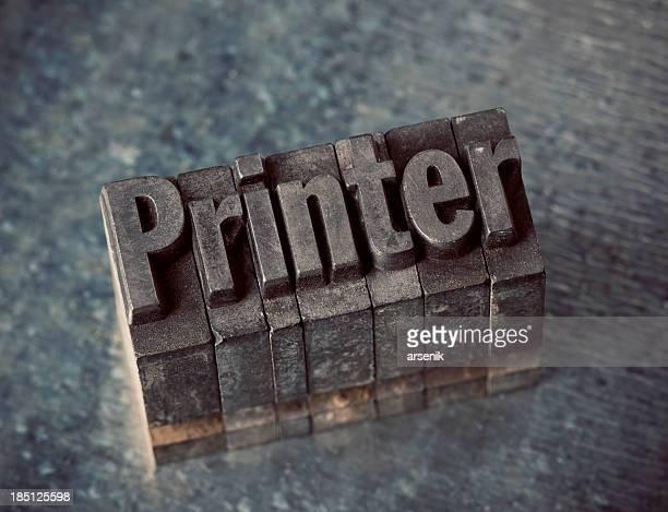 Imprimante en typographie de Type