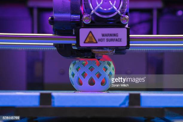 3D Printer making a plastic bowl