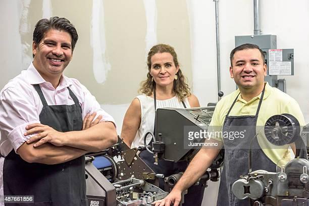 Drucker und Teamarbeit (small business