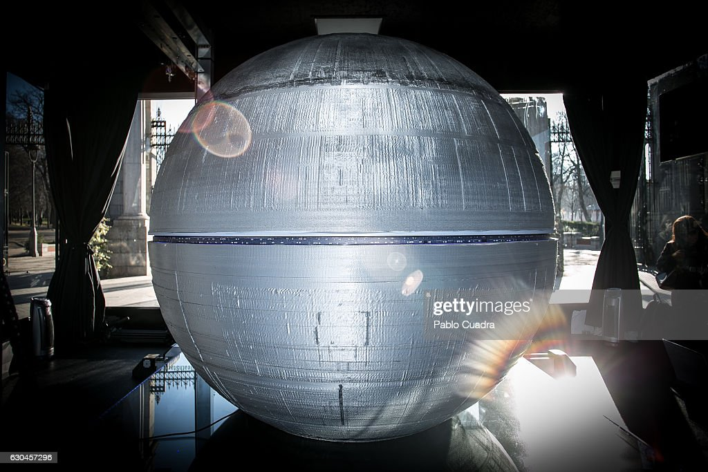 The Death Star Is Printed In 3D In Madrid : News Photo