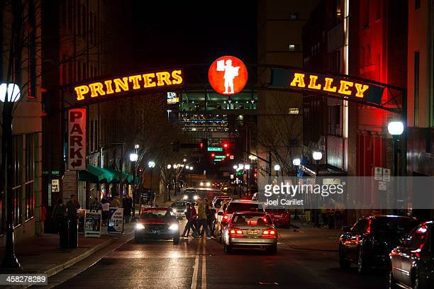 Printers Alley sign in Nashville