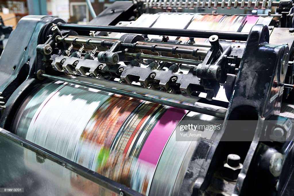Printing at high speed : Stock Photo