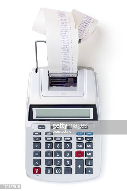 Printing Calculator on White with Clipping Path