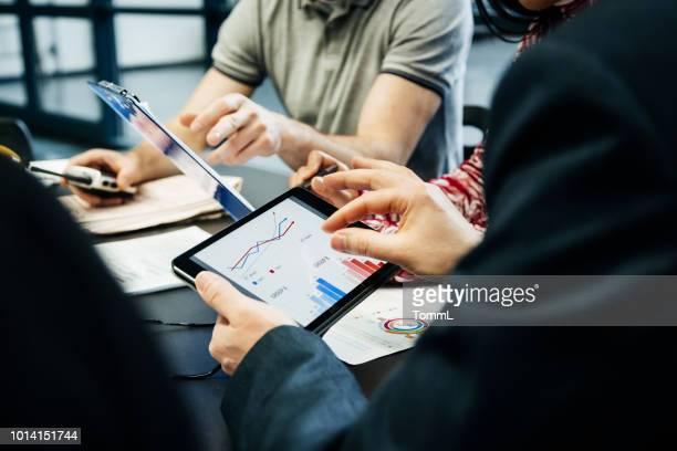 printing factory management team holding meeting - business strategy stock photos and pictures