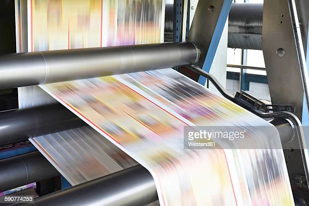 Printing machine in a printing shop