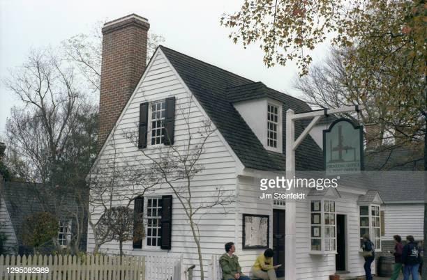 Printing office in Colonial Williamsburg in Williamsburg, Virginia on November 1, 1981.