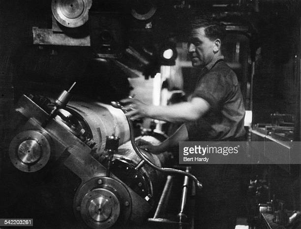 A printing press belonging to the British Sunday newspaper the 'News Of The World' UK April 1953 Original Publication Picture Post 6488 The 'News Of...