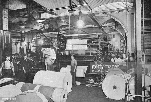Printing the Daily Telegraph newspaper London circa 1900 From Living London Vol II by George R Sims [Cassell and Company Limited London Paris New...