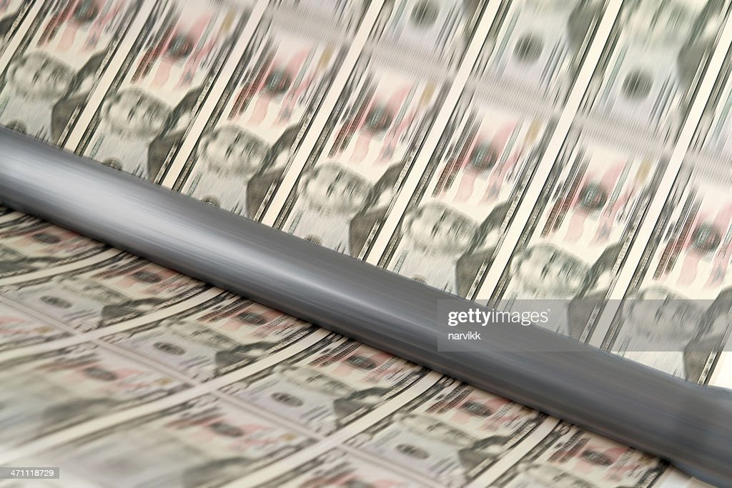 Printing Us Dollar Banknotes Stock Photo - Getty Images