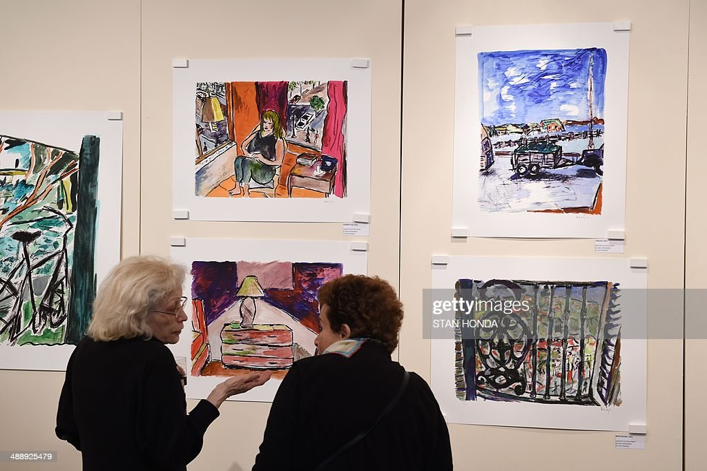US-ART-MUSIC-DYLAN-PAINTINGS : News Photo