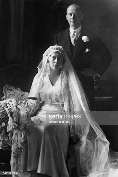 Prinz Christoph von Hessen und seine Ehefrau Sophie Hochzeitsbild undatiert