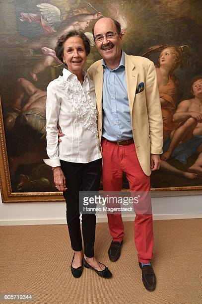 Prinz Fritz von Thurn und Taxis and Prinzessin Bea von Thurn und Taxis during a cocktail reception hosted by the Dorotheum on September 14 2016 in...