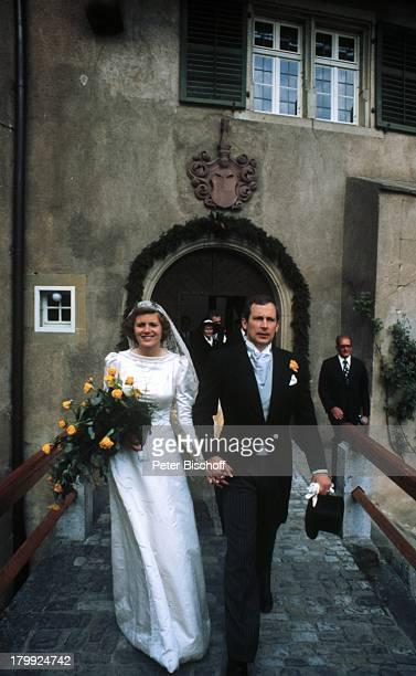 Prinz Louis Ferdinand von Preußen jr Ehefrau Gräfin Donata zuCastellRüdenhausen Schloß RüdenhausenHochzeit