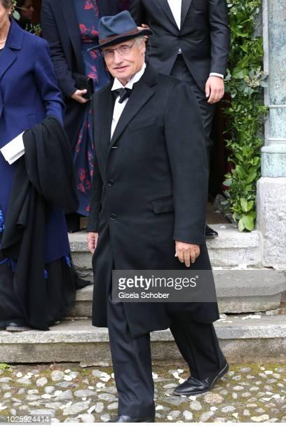 Prinz Ludwig of Bavaria during the wedding of Prince Konstantin of Bavaria and Princess Deniz of Bavaria born Kaya at the french church 'Eglise au...