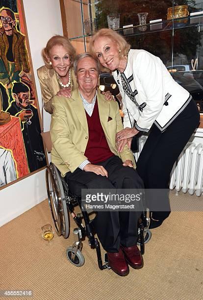 Prinz Peter zu Hohenlohe and Ellen and Alice Kessler attend the Dorotheum Munich Hosts Cocktail Reception on September 16 2014 in Munich Germany