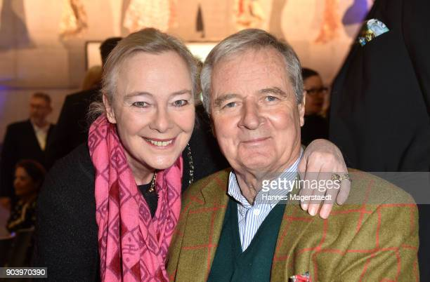 Prinz Peter zu Hohenlohe and Prinzessin Uschi zu Hohenlohe during 'Der andere Laufsteg' exhibition opening in Munich at Staatliches Museum...