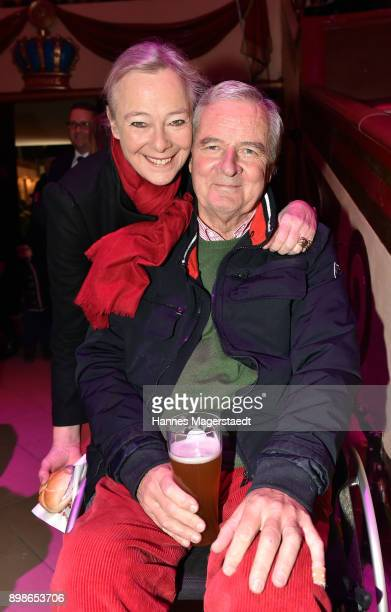 Prinz Peter zu Hohenlohe and Prinzessin Uschi zu Hohenlohe during Circus Krone celebrates premiere of 'In Memoriam' at Circus Krone on December 25...