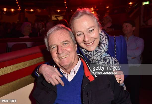 Prinz Peter zu Hohenlohe and Prinzessin Uschi zu Hohenlohe during Circus Krone celebrates premiere of 'Hommage' at Circus Krone on February 1 2018 in...