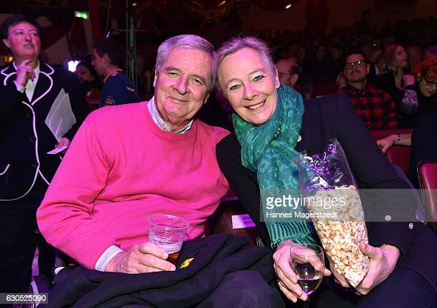 Prinz Peter zu Hohenlohe and Prinzessin Uschi zu Hohenlohe during the premiere of 'Tierisch gut' at Circus Krone on December 25 2016 in Munich Germany