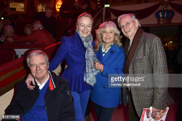 Prinz Peter zu Hohenlohe Prinzessin Uschi zu Hohenlohe Wera Klaus and Wilfried Klaus during Circus Krone celebrates premiere of 'Hommage' at Circus...
