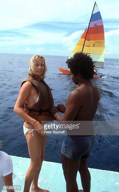 Prinzessin Angela von Hohenzollern Einheimischer Urlaub auf Barbados Barbados Karibik segeln Boot Schiff Schauspieler Adel