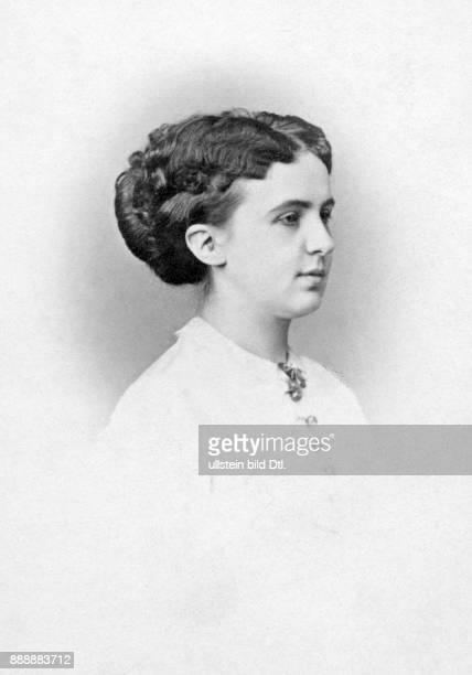 Prinzessin aus dem Hause der Askanier Deutschland Portrait der Gattin von Friedrich Karl von Preußen Ernst Milster Originalaufnahme im Archiv von...
