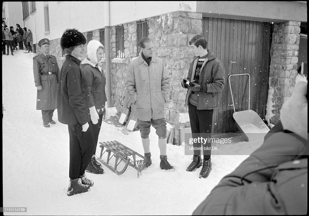 Prinzessin Gina Anne Prinz Philip Charles Skiferien In Malbun 1965 News Photo Getty Images