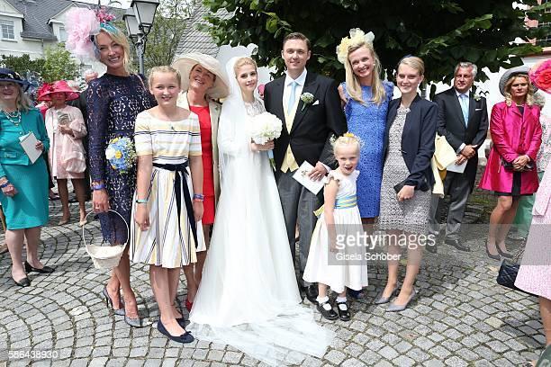 Prinzessin Lilly zu Sayn-Wittgenstein-Berleburg and her daughter Lana Milano, sister Stefanie - Christina zu Sayn-Wittgenstein-Berleburg Bride...