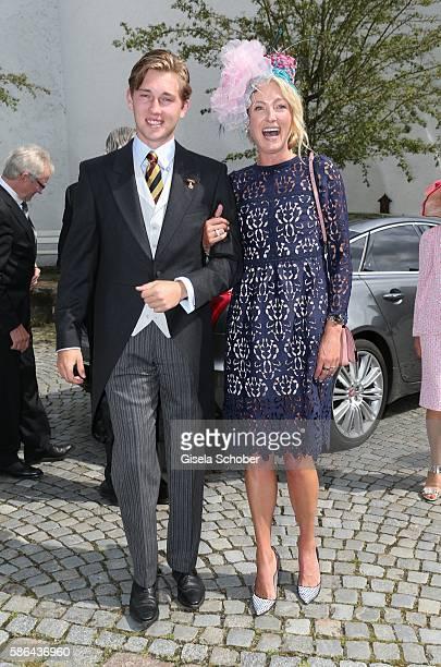 Prinzessin Lilly zu SaynWittgensteinBerleburg and her son Heinrich Donatus zu SchaumburgLippe during the wedding of Prince Maximilian zu...