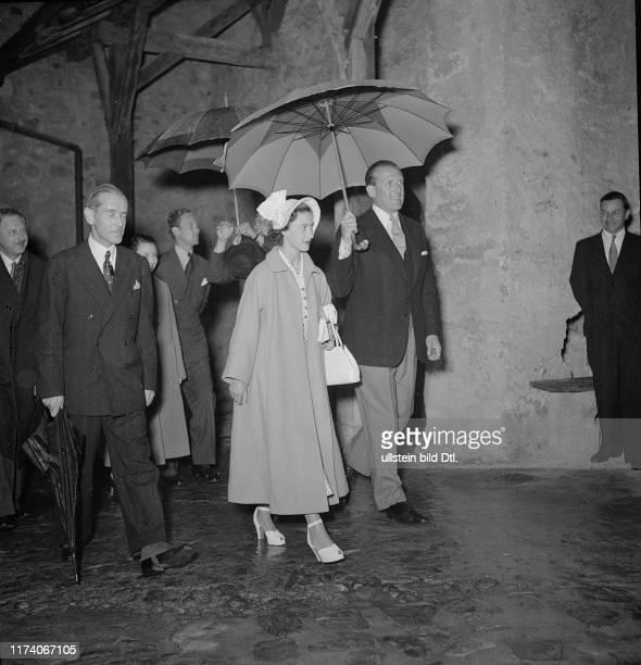 Prinzessin Margaret besucht das Schloss Chillon 1949