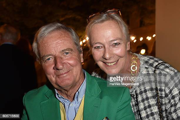 Prinzessin Uschi zu Hohenlohe and Prinz Peter zu Hohenlohe during a cocktail reception hosted by the Dorotheum on September 14 2016 in Munich Germany