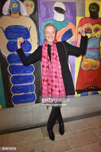 Prinzessin Uschi zu Hohenlohe during 'Der andere Laufsteg' exhibition opening in Munich at Staatliches Museum Aegyptischer Kunst on January 11 2018...